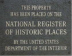 National Register Of Historic Places Plaque Authorized By The Preservation Act 1966