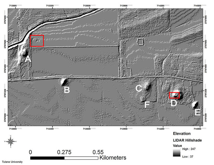 LiDAR of the Carson Mound Site