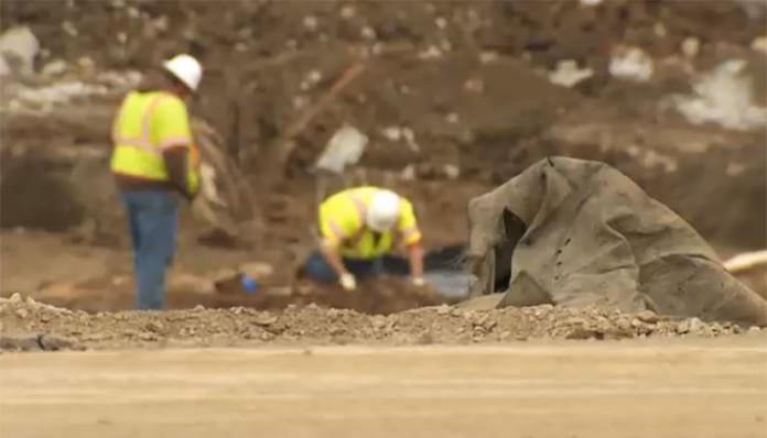 Artifacts Found Nashville Ballpark Construction WZTV Video Screen Capture