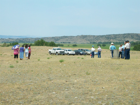 Crow Elders visit the site of Fort Parker