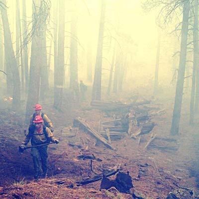 Slide Fire Cabin Remains