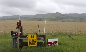 North Dakota Oil Boom - Keep Off Signs