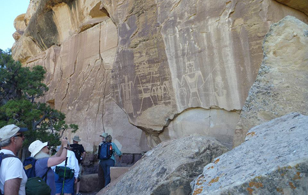 Visiting Amazing Petroglyphs along the Yampa River Trip 2014.