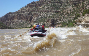 On The River at the Yampa Rover Tour 2014.