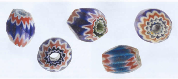 Spanish glass Beads were popular trade items with Native Americans.