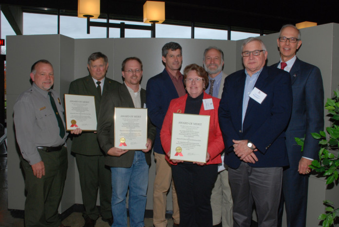2014 Ohio SHPO Awards Junction Group Earthworks Coalition. Midwest Regional Director Paul Gardner accepts for The Archaeological Conservancy.