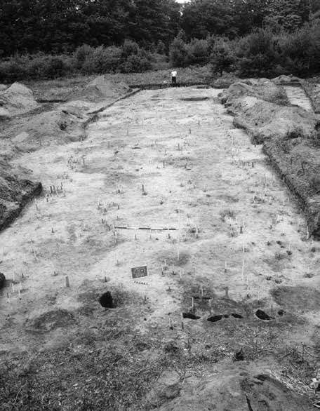 This longhouse was exposed during excavations directed by William Ritchie and Robert Funk in the 1960s.