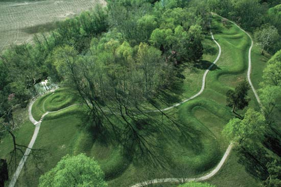 Serpent Mound from the Air.