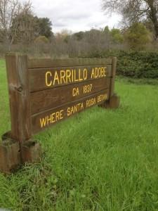 Signage for Carillo Adobe, Santa Rosa, Ca.