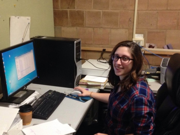 Sarah Hoffman researching archaeological sites for our Eastern Office