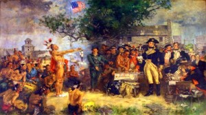 Painting of the signing of the Treaty of Greenville