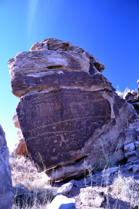 Petroglyph archaeological sites near Petrified Forest National Parkin Arizona