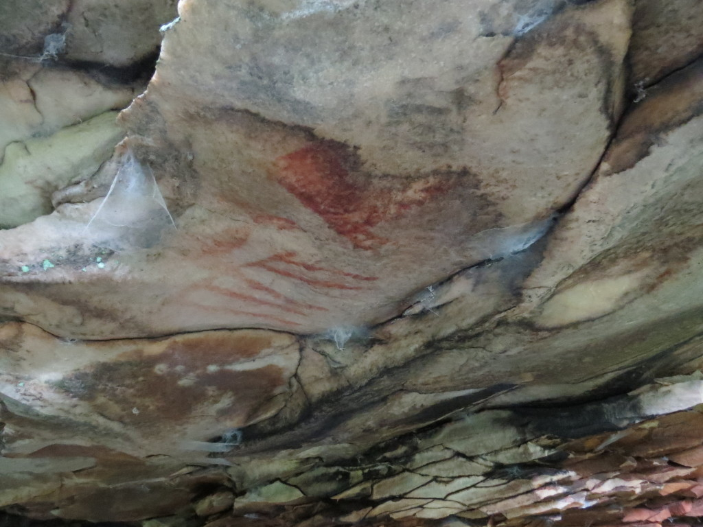Pictograph at Dwyer Rockshelter.