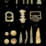 Collection of Metal artifacts recovered at the site of Piedra Macadas. Photo courtesy of Mathew Schmader.