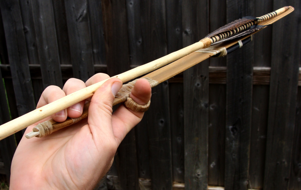 The atlatl is a unique and well preserved example of an Archaic Great Basin atlatl tradition. Photo Courtesy Devin Pettigrew, http://basketmakeratlatl.com/?page_id=949