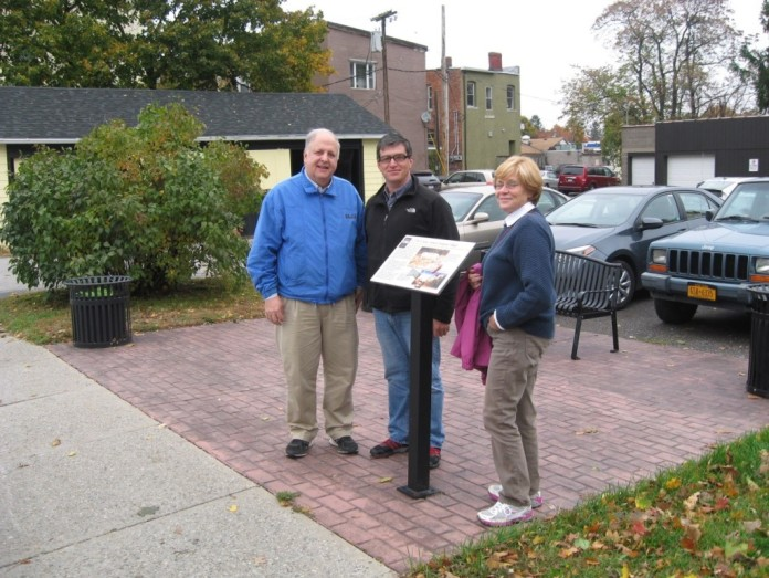 From left to right: George Hamell, Curator of the Rock Foundation Collection, Andy Stout, Eastern Regional Director of the Conservancy, and Martha Sempowski, Archaeologist at the Rochester Museum and Science Center.