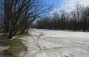 Fort Adams Preserve Flooded by Frozen River.