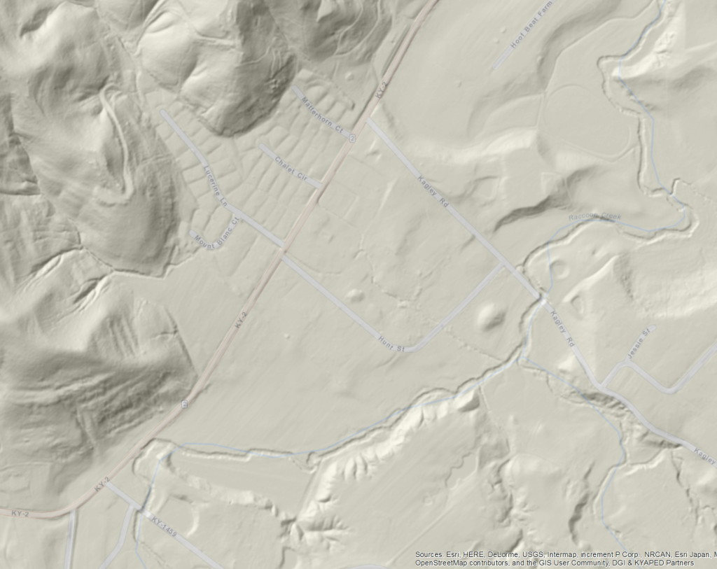 View of topography from above.