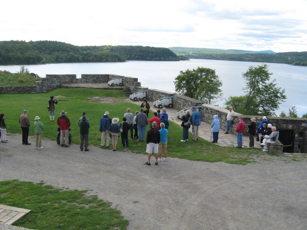 Fort Ticonderoga in upstate New York is one of the forts that we visit on the French and Indian War Tour.
