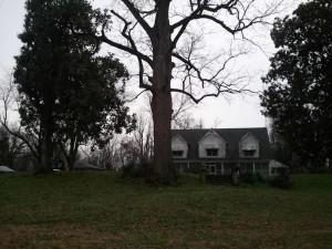 The Farm house sitting atop the Blachard Site