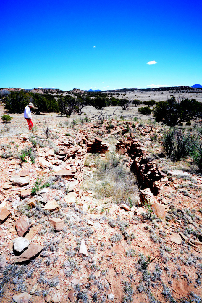 Touring one of the Davis Ranch's many sites with Virginia Davis. Photo Chaz Evans/The Archaeological Conservancy.