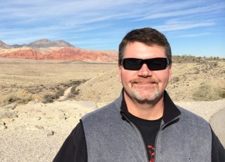 Western Regional Director Cory Wilkins onsite at Red Rock Canyon National Conservation Area, near Las Vegas, NV.