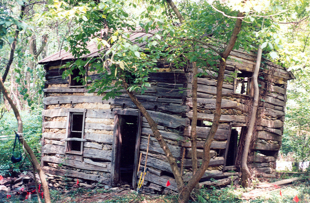 A clay sculpture of a human skull was found in this cabin on the Demory site in Virginia. Credit: Chris Fennel