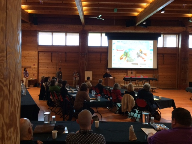 Inside Suquamish Tribe's long house Attendees at the summit