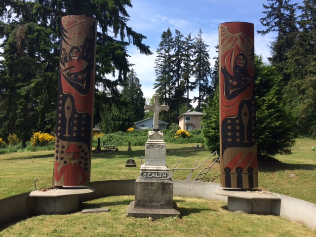 Chief Seattle's (for whom the City of Seattle was named) grave, which is a short distance from the longhouse.