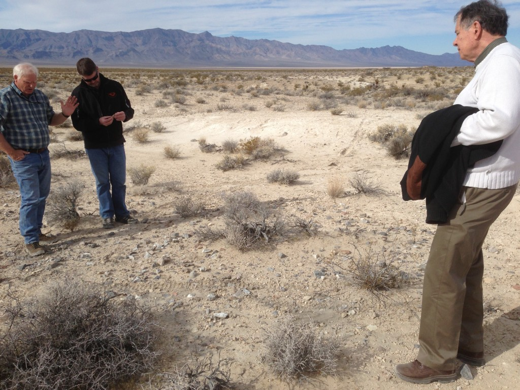 Off into the Desert at site near Pahrump, NV.