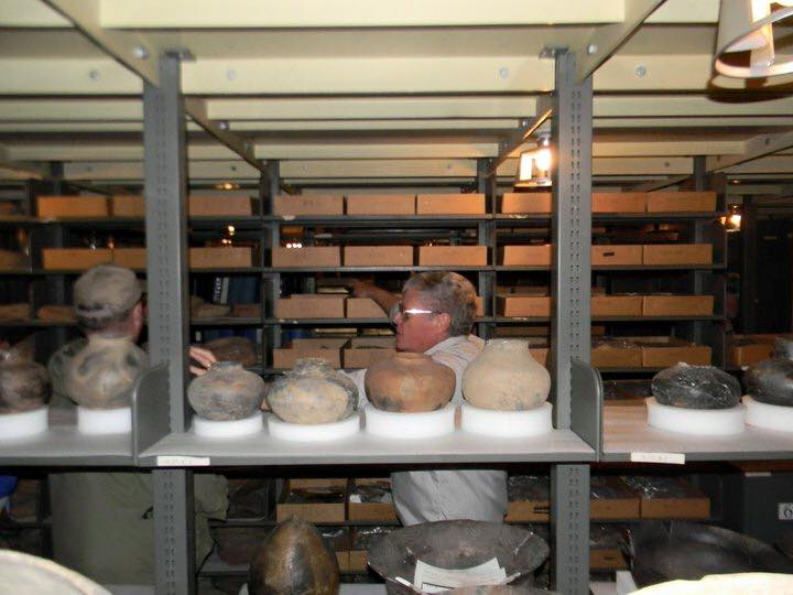 Doc touring Archaeological Conservancy groups in collections.