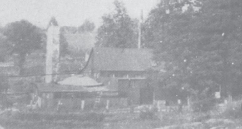 A photograph of the Pamplin Pipe Factory taken in 1915.