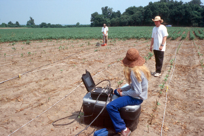 GPR In the Field with the University of Mississippi Research at Parchman. Photo credit The University of Mississippi Center for Archaeological Studies