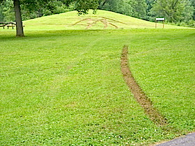 Vandalism at Serpent Mound, Ohio