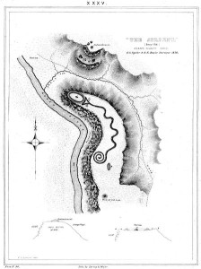 Historic Map of the Serpent Mound Site.
