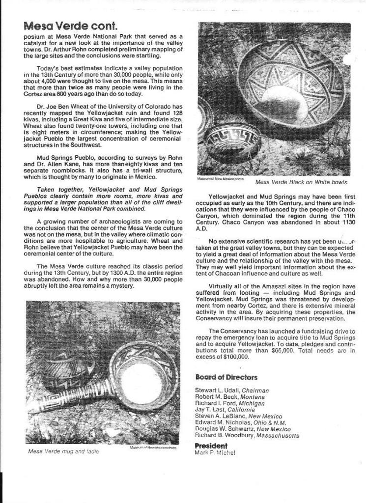 Newsletter 1982 mesa verde 2