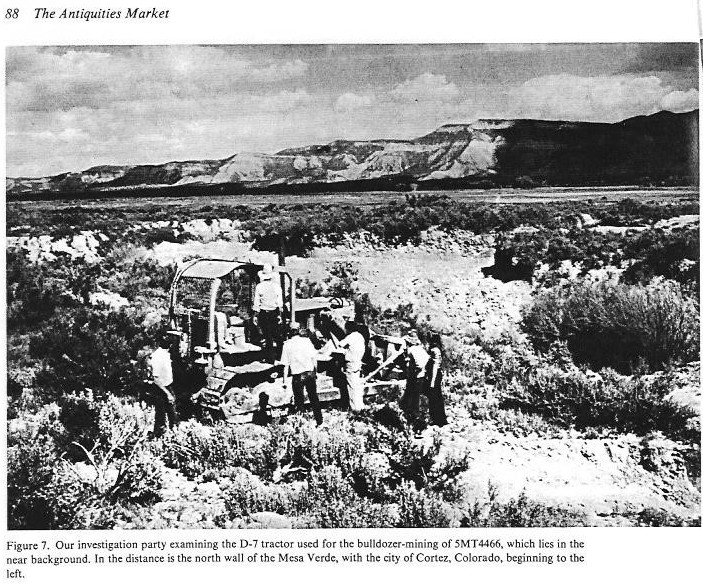 bulldozer Mud Springs Pueblo
