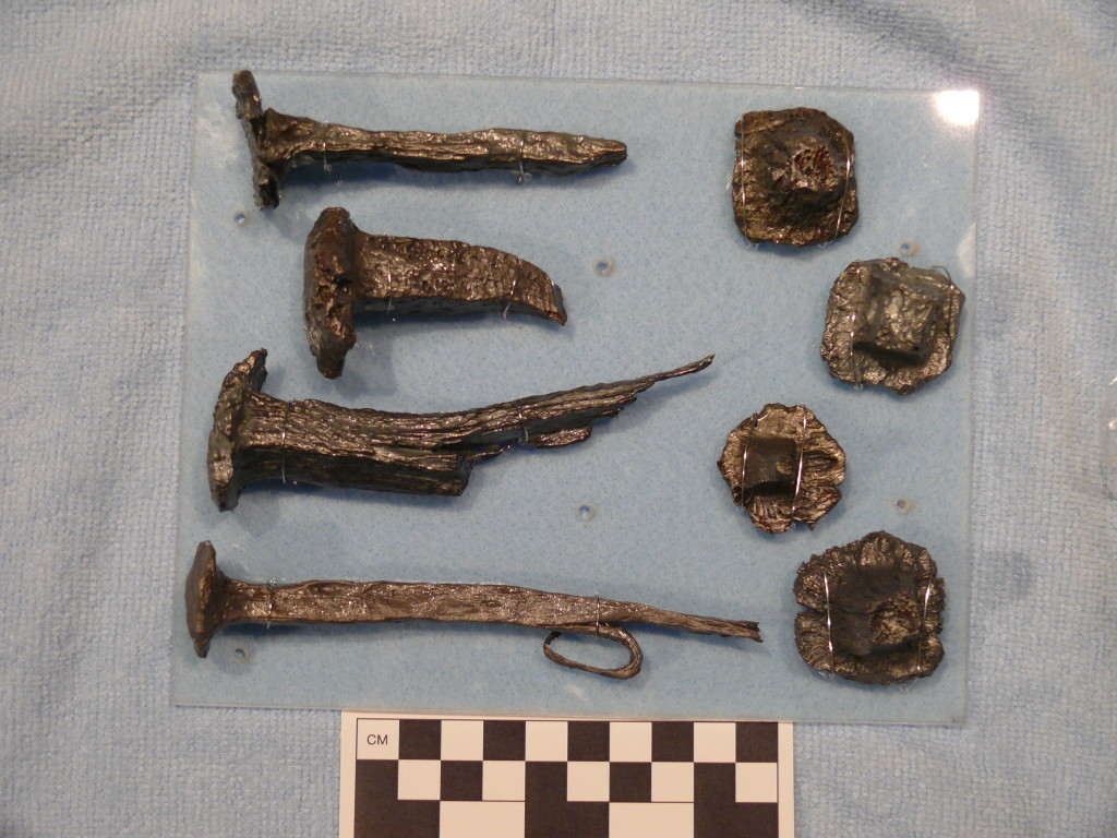 Iron artifacts recovered from the Armstrong site were salvaged and modified by the French shipwreck survivors. Credit: John De Bry