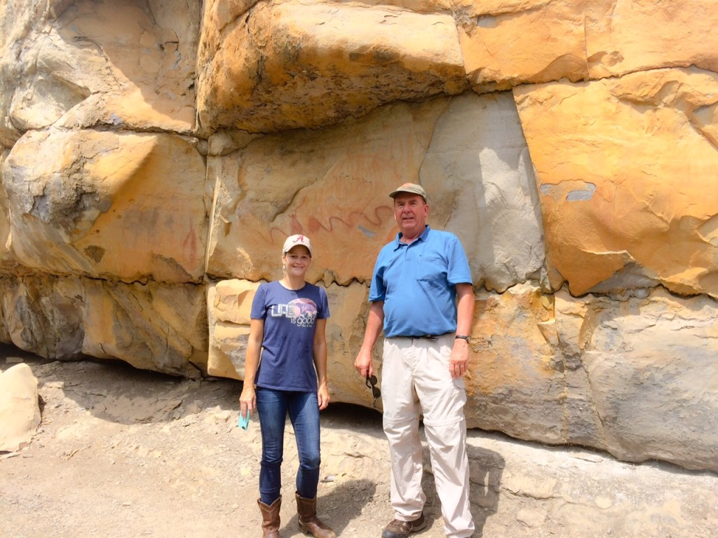 President Mark Mitchell and SE Director Jessica Crawford at Painted Bluff