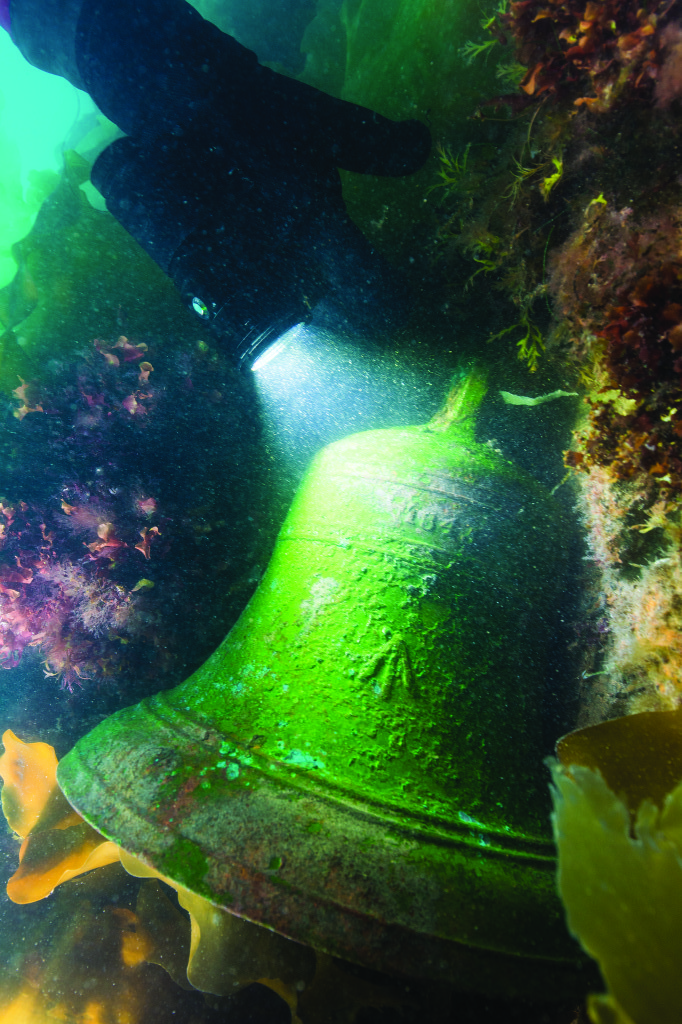 Erebus' bell was found at the site. The date 1845 is embossed near the top of the bell.
