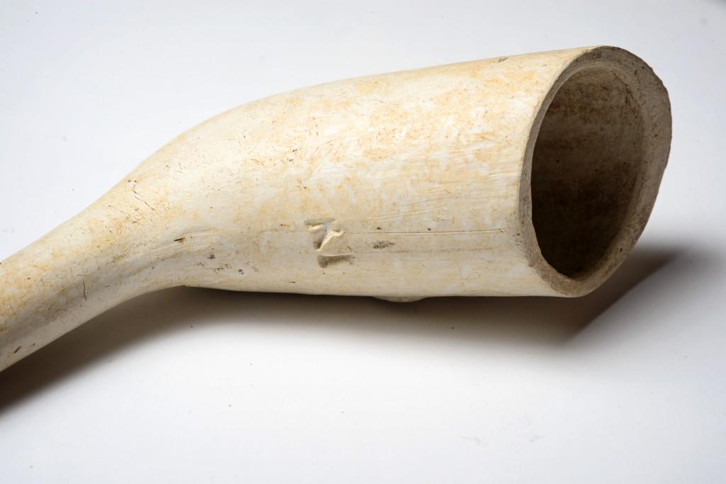Researchers recovered this clay tobacco pipe bowl. Credit: Patrick Hall