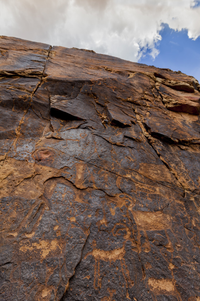 The walls at Chevelon Steps feature images such as Bighorn sheep. Credit: Tom Brownold