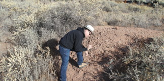 Southwest Regional Director Jim Walker Examining the site