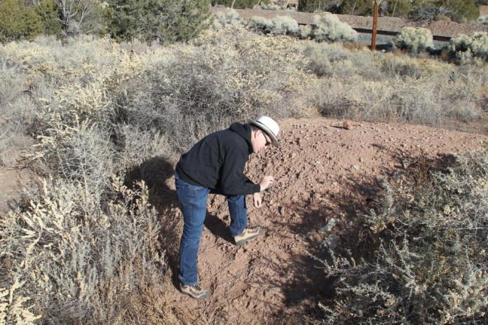 Southwest Regional Director Jim Walker Examining the site