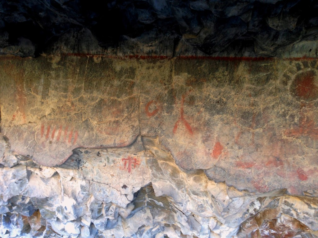 Pictographs In Shelter