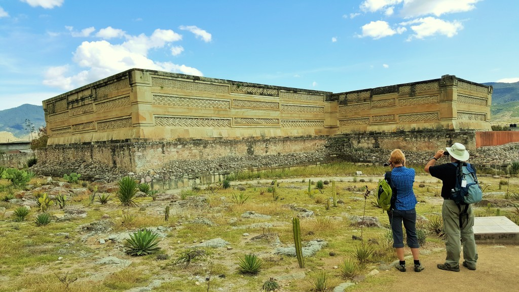 Visiting the Ruins of Mitla