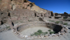 Archaeologists found macaw remains in rooms 71 and 78, which are to the left of center just above this kiva. Credit: Chaz Evans