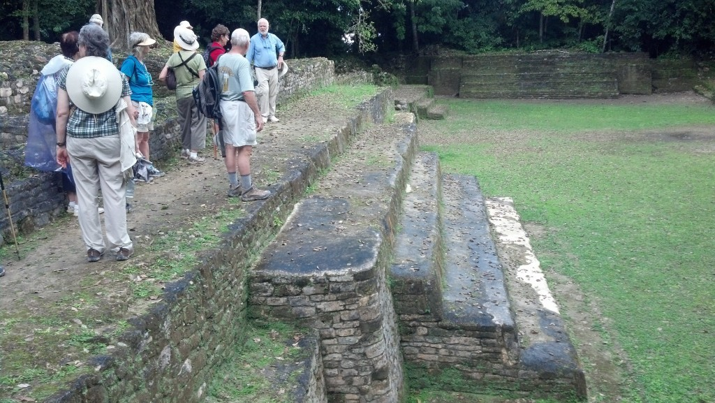 Touring in Lamanai, Belize, with the Archaeological Conservancy. Photo Courtesy John Henderson.