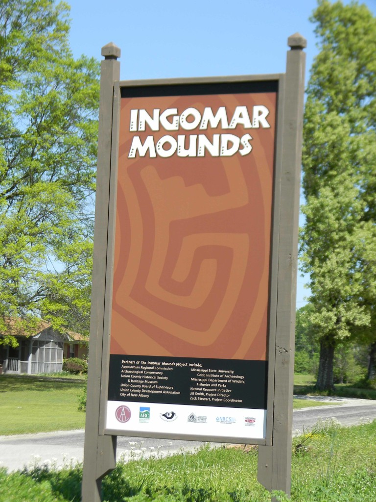 Signage at Ignomar Mounds.