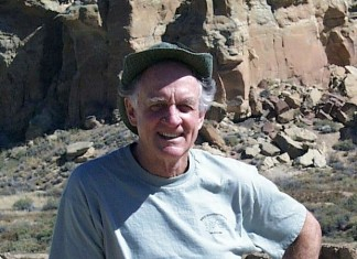 Dr. Jim Judge at Chaco Canyon.